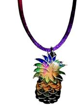 NEW Pineapple Mood Necklace Color Change Pendant Liquid Crystal Thermo