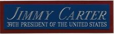 JIMMY CARTER USA 39TH PRESIDENT NAMEPLATE FOR YOUR AUTOGRAPHED SIGNED BOOK-PHOTO