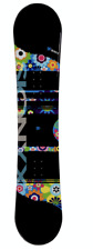 NEW Sionyx Hippy Girl's Snowboard Flowers on Black Ground - $199.99 Retail