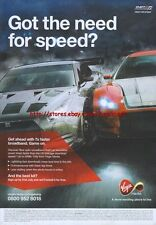 "Need For Speed Shift 2 Unleashed ""Virgin Media"" 2011 Magazine Advert #4408"
