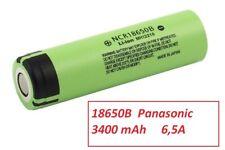 1 Batteria ricaricabile Li-ion PANASONIC NCR 18650 B  3400 mAh 3,6V  6,5A