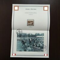 Germany Nazi 1943 Stamp MNH race horse Brown Ribbon WWII Third Reich Deutsches R