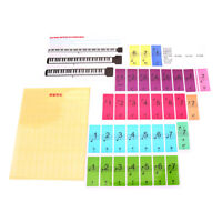 Removable Piano Sticker for 88/61/51 Key Keyboards f/Learning Piano/Keyboard