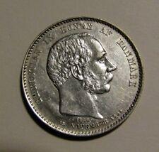 Denmark 1888 2 Kroner Silver Coin