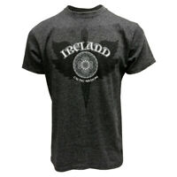 Mens T-Shirt Black Grindle Ireland Dagger Machine Washable Heather Grey Color