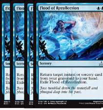 Flood of Recollection NM  X4 Rivals of Ixalan MTG Uncommon Blue