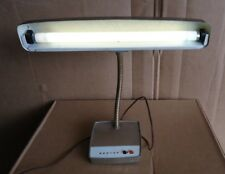 Vintage Marks Deluxe Goose Neck Desk Lamp Made in USA Florescent, Mid Century