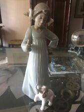Nao Girl With Dog Figurine