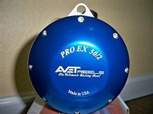 Avet EXW50/2RH-BL 2-Speed Reel, Blue, Right Hand
