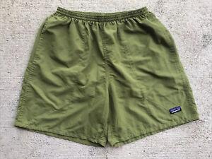 "Patagonia Men's Baggies Shorts 7"" Medium Willow Green Black Liner Hike 58032"