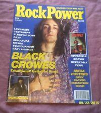 ROCK POWER MAGAZINE MAY 1992 #12 BLACK CROWES,IRON MAIDEN,SEPULTURA etc