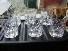 Set of 6 Bohemiam ? heavy whiskey glass tumblers