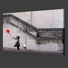 NOT FRAMED 12x18'' Canvas Prints Home Decor Banksy Balloon Girl Picture Wall Art