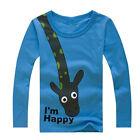 Carino Bambini GIRAFFA maniche lunghe T-Shirt Maglia Felpa per maglione