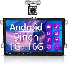 "Car radio for VW Android car stereo Bluetooth Headunit 9"" touchscreen, GPS Nav"