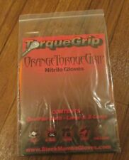 Black Mamba Torque Grip Gloves Orange Torque Grip Nitrile Gloves (L & Xl) New
