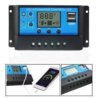 10A 20A 30A 12V/24V Solar Panel Charger Controller Battery Regulator USB LCD 1x