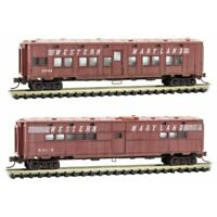 Western Maryland 50' Troop Sleeper & Kitchen Car Weathered MTL #99305570 N Scale