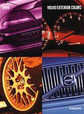 1999 Volvo Paint colors Car Brochure Folder - C70 S80 S70 V70