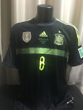 España Spain match player shirt camiseta Xavi 2014 away