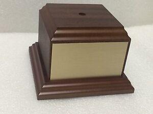 Genuine Wood Veneer Trophy Base Various Sizes
