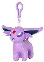 Pokemon 3'' Espeon Eevolution Plush Bag Clip Key Chain NEW