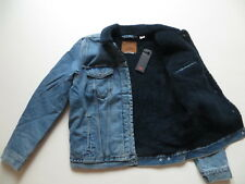 Levi's Jacke Jeansjacke mit BLAUEM Fell, Gr. L, NEU ! warm Teddyfell gefüttert !