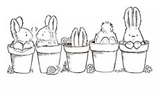 NEW 'Row of Bunnies' Easter Clear Craft Stamp 🐣 🇬🇧 seller - Free UK Returns