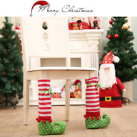 1x Elf Foot Shoes Chair Table Leg Covers Christmas Table Decorations Candy Gift#