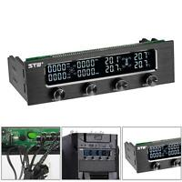 """5.25"""""""" PC HDD CPU Fan Speed Controller Automatic temperature Sensor LCD Panel"""
