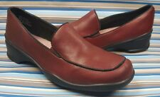 CLARKS DARK RED LOAFERS SLIP ON WOMEN'S SHOES 6 M