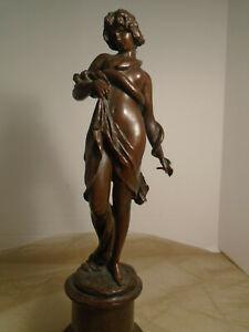 Max Lindenberg Signed Bronze Figurine/ Antique Bronze Statue