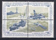 CHILE 1975 STAMP # 865/8 MNH SHIP LIFEBOATS BOTES SALVAVIDAS VALPARAISO