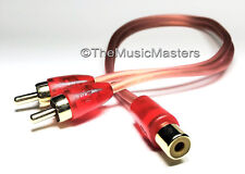 MicroFlex OFC Premium RCA Audio Y Cable Adapter Splitter 1 Female to 2 Male Plug