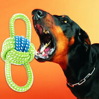Pet Dog Chew Toy with Knot Fun Tough Strong Puppy Dog Tug War Play Cotton Rope