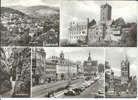 """Ansichtskarte Eisenach """"Markt, Lutherdenkmal, Wartburg, Drachenschlucht"""" - s/w"""