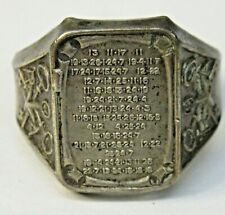 1937 ORPHAN ANNIE Silver Star SECRET MESSAGE Ring Ovaltine Radio Premium f1