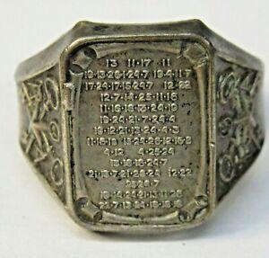 1937 ORPHAN ANNIE Silver Star SECRET MESSAGE Ring Ovaltine Radio Premium f1
