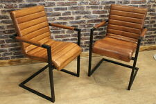 leather industrial dining chairs
