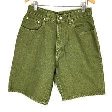 VTG Jordache Womens Jean Shorts 10 Denim Green High Waist 100% Cotton Jeans