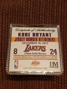 Kobe Bryant Lakers #8/#24 Jersey Retirement Commemorative Coin Medallion