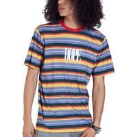 Dope Mens Multi Striped Logo Tee T-Shirt Top M BHFO 0871