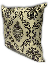 Cream Home Decorate Room Sofa Flock Print Cushion Cover Pillow Case 43cm x 43cm