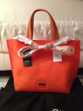 C'N'C' COSTUME NATIONAL Orange Rubber Tote w/Detachable Shoulder Strap (NWT)$600