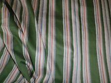 Sale Vintage 1979 Lee Jofa Cotton Interiors Dress Fabric Green 'Regency Stripe'