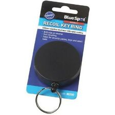 Blue Spot Recoil Key Ring with Belt Clip Self Recoiling for Security Passes Keys
