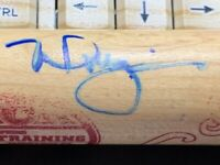 MIKE MCGWIRE SIGNED MINI BAT COA
