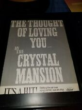 The Crystal Mansion The Thought Of Loving You Rare Promo Poster Ad Framed!