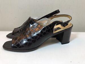 dressy new STUART WEITZMAN black beaded strappy sandals Shoes 6.5 Narrow