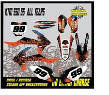 KTM SX 50 65 Graphics Kit- Sticker Kit-Decals-Motocross-MX-Go Pro-Blue